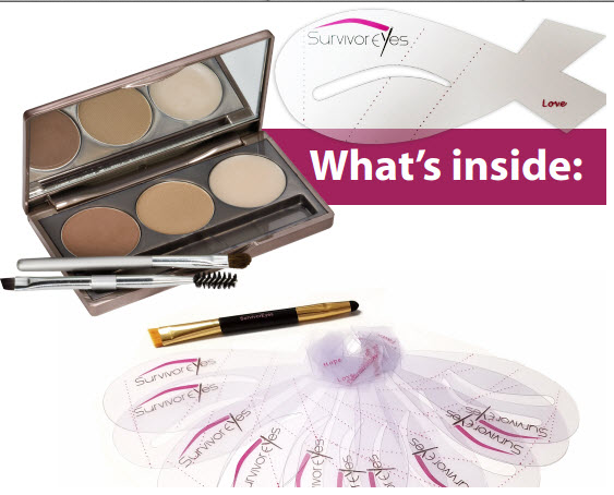 You can purchase just the stencils $14.95 OR the stencils w/brow powder/highlighter for $39.95