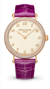 A timepiece perfect for ladies wanting a touch of diamonds or perhaps a fan of Prince. The purple watch band is fierce!